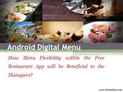 Android Digital Menu for Restaurant and Hospitality Industry