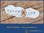 Deed of Separation - Divorce in Singapore