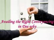 Availing the Right Conveyancing in Dee why