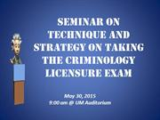 TECHNIQUE AND STRATEGIES ON BOARD EXAM2015UPLOAD