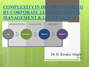 COMPLEXITY IN DECISION MAKING BY CORPORATE LEADERS (