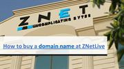 How to register domain at ZNetLive?