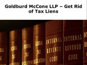 Goldburd McCone LLP – Get Your Tax Issues Abated