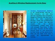 Availing A Window Replacement Is An Easy
