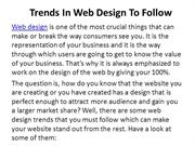 Trends In Web Design To Follow