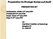 ppt on Strategic Review and Audit