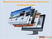 Magento Ecommerce Customization Services For Shopping Websites