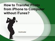 How to Transfer Photo from iPhone to Computer without iTunes
