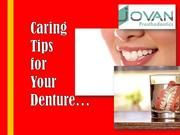 Caring Tips for Your Denture - By Round Rock Dentists
