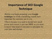Importance of SEO Google Technique