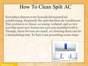 Steps to clean split AC