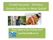 Chubb Security- Wireless Alarm System Provider in New Zealand