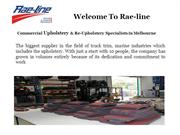 Commercial Upholstery, Re-upholstery Cutting & Sewing, Australia