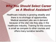 Medical Assistants- The Backbone of Healthcare Industry