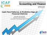 Cash Flow Patterns: A Predictive Sign of Financial Distress