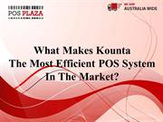 What Makes Kounta the Most Efficient POS System in the Market?