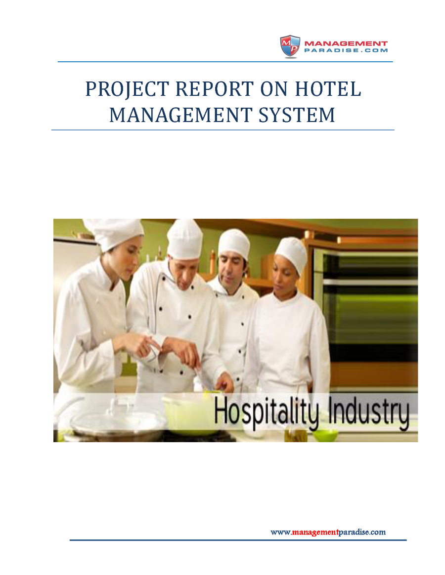 Project Report On Hotel Management System