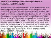 Transfer Text Messages from Samsung Galaxy S4 to Computer