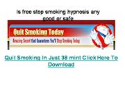 Is free stop smoking hypnosis any good o