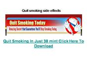 Quit smoking side effects