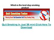 Which is the best stop smoking product