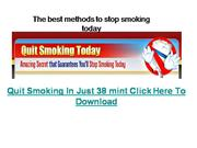 The best methods to stop smoking today