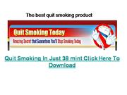 The best quit smoking product