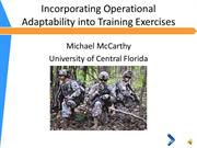 Incorporating Operational Adaptability into Training Exercises_15JUN15