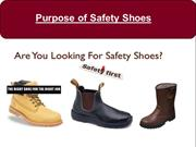 Purpose of Safety Shoes