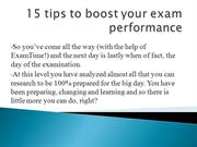 15 tips to boost your exam performance