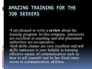 Amazing Training for The Job Seekers