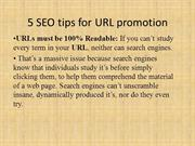 5 SEO tips for URL promotion