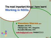 What I learnt working with NGOs
