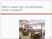 October BCES Happenings