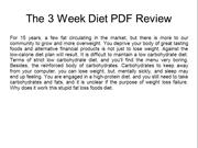 The 3 Week Diet PDF