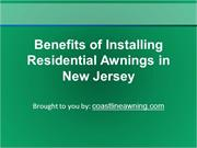 Benefits of Installing Residential Awnings in New Jersey