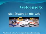 Sign Letters For Sale online