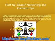 POST TAX SEASON NETWORKING AND OUTREACH TIPS