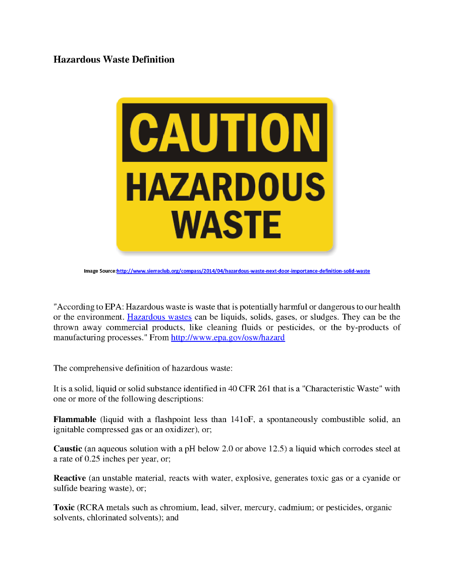 defintion of hazardous waste |authorstream