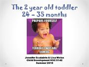The 2 year old toddler; 24-35 months