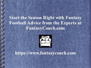 Fantasy Football Advice - Fantasy Couch