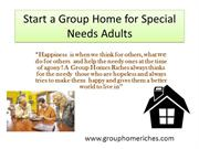 Start a Group Home for Special Needs Adults
