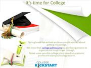 New release of College Kickstart 2015 now available!