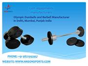 Olympic Dumbells and Barbell Manufacturer in Delhi, Mumbai, Punjab ind