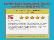 Boynton Beach Accident Attorney - Drucker Law Offices (561) 265-1976
