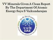 VV Minerals Given A Clean Report By The Department Of Atomic Energy Sa