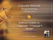 Culturally Relevant Programming - Corporate Culture