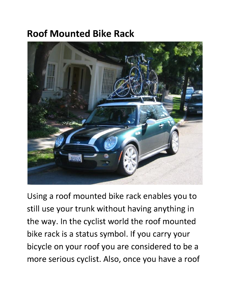 Bike Types Pdf Types of Bike Racks PDF