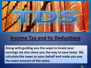 Income Tax and its Deductions