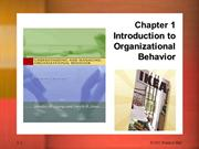 chapter 1 - organizational behavior